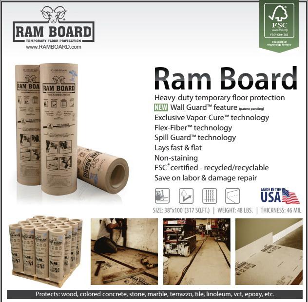 Ram Board Is A Heavy Duty Temporary Floor Protection